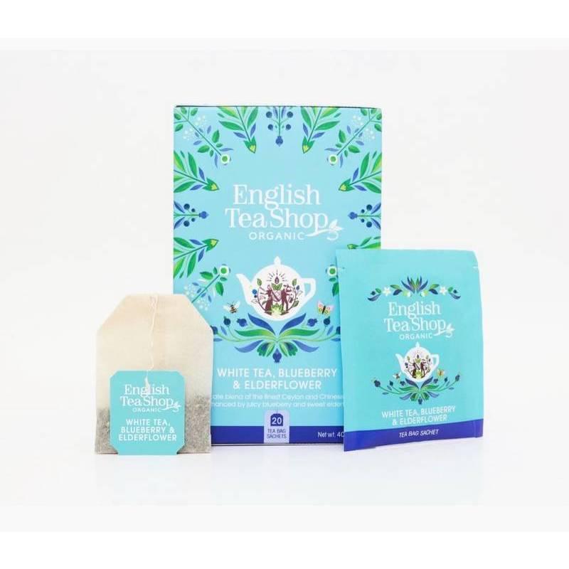 ENGLISH TEA SHOP WHITE TEA WITH ELDERFLOWER AND BLUEBERRY  20S