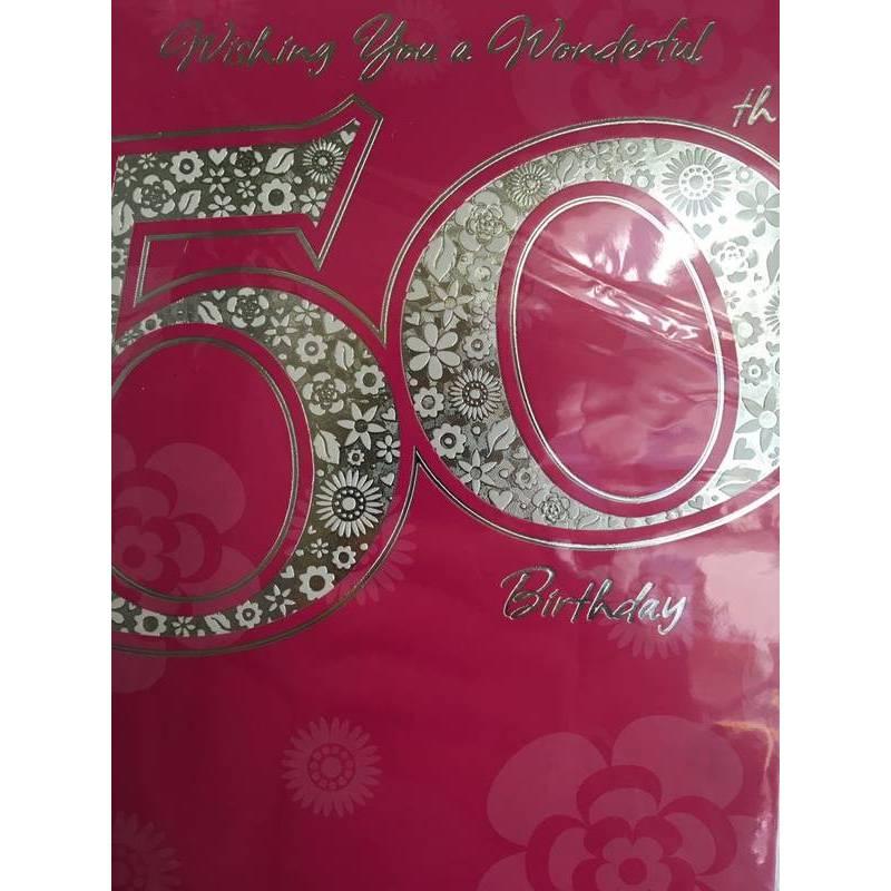 GREETING CARD - WISHING YOU A WONDERFUL 50TH