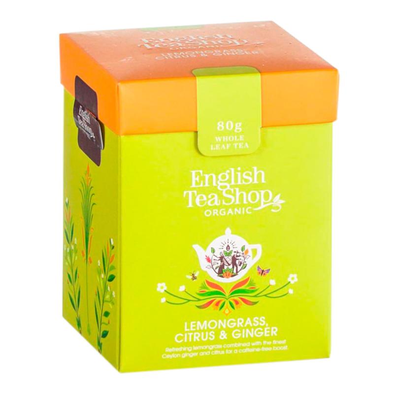 ENGLISH TEA SHOP LEMONGRASS AND GINGER LOOSE LEAF HERBAL TEA 80G