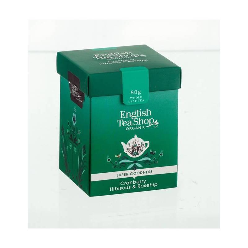 ENGLISH TEA SHOP LOOSE HERBAL TEA CRANBERRY, HIBISCUS & ROSEHIP 80G