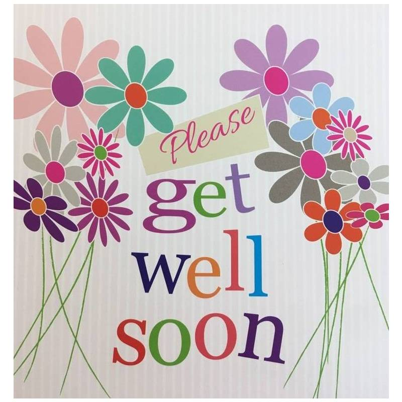 GREETING CARD PLEASE GET WELL SOON