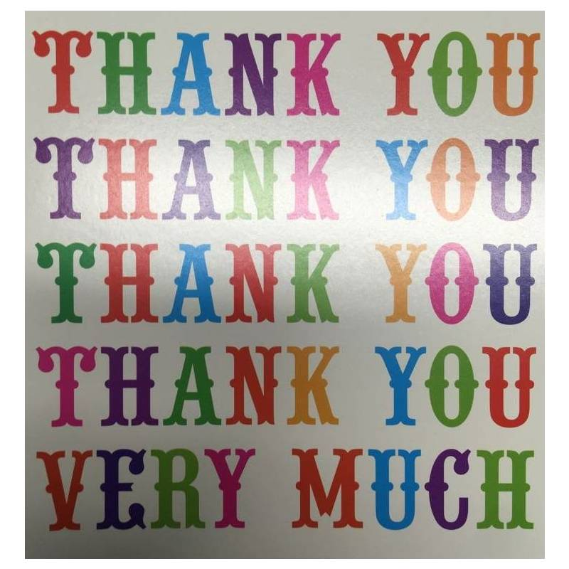 GREETING CARD - THANK YOU THANK YOU VERY MUCH