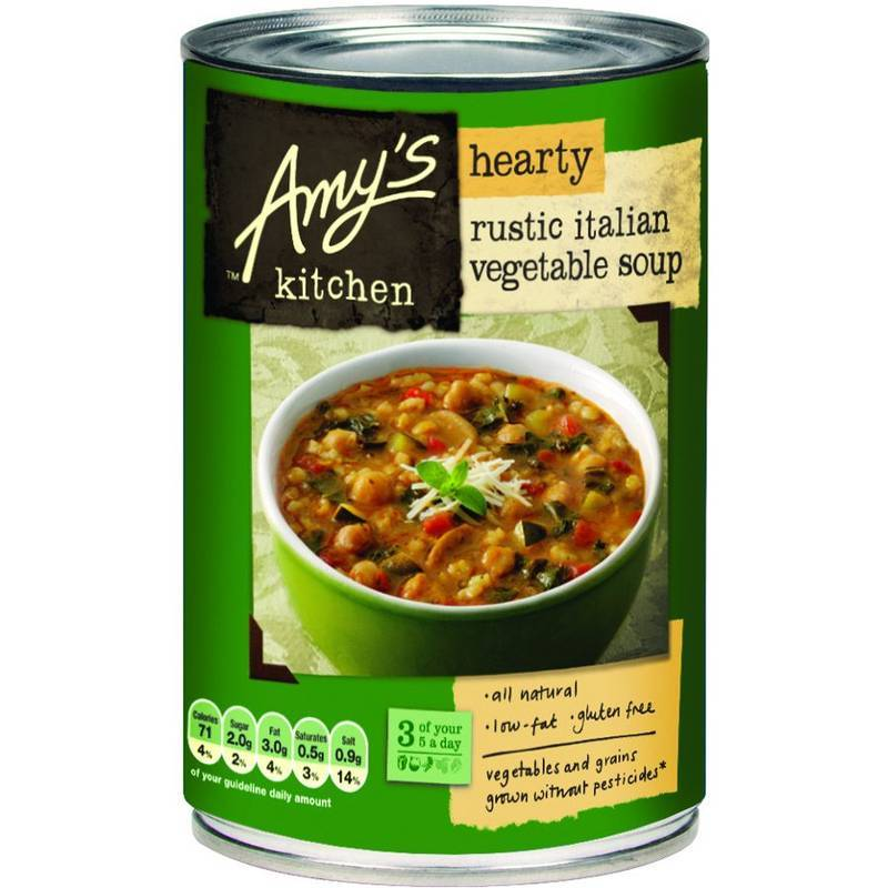 AMY'S KITCHEN RUSTIC ITALIAN VEGETABLE SOUP 397G