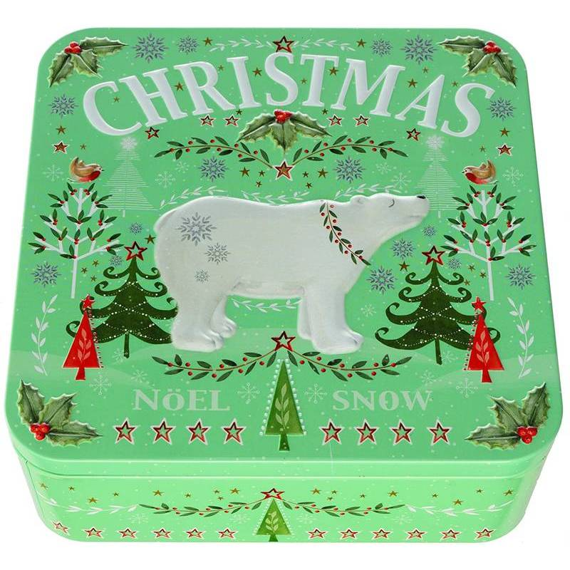 FARMOUSE BISCUITS POLAR BEAR TIN WITH TOFFEE BISCUITS 250G