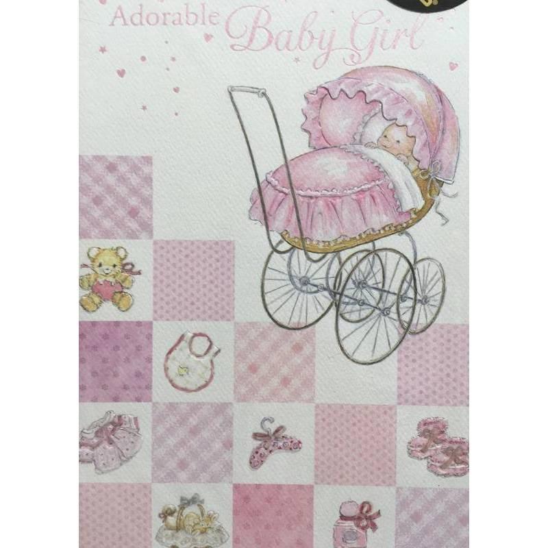 GREETING CARD - ADORABLE BABY GIRL