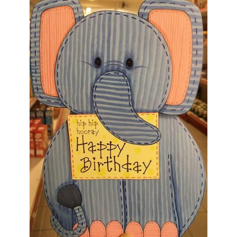 GREETING CARD - BIRTHDAY ELEPHANT