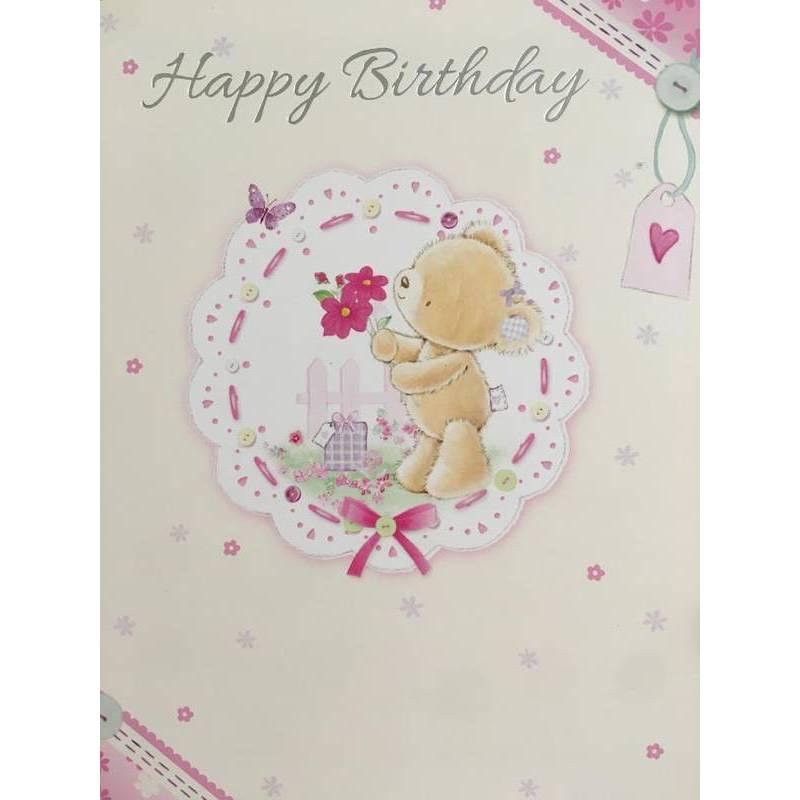 GREETING CARD - BIRTHDAY TEDDY BEAR