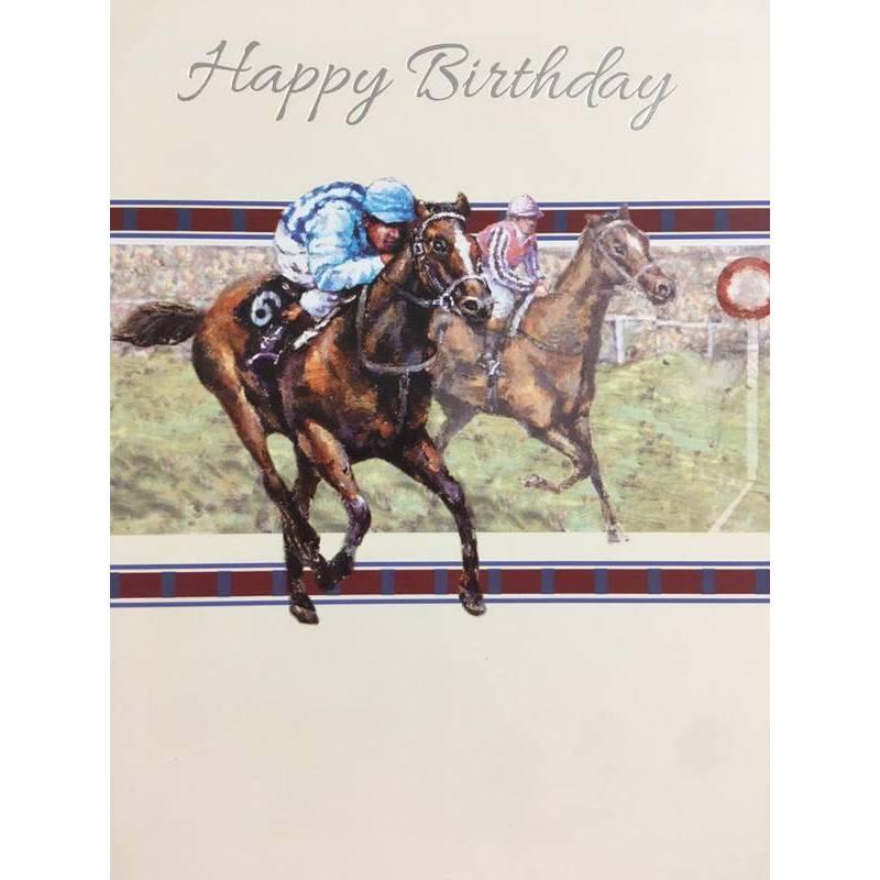 GREETING CARD - HAPPY BIRTHDAY RACEHORSE