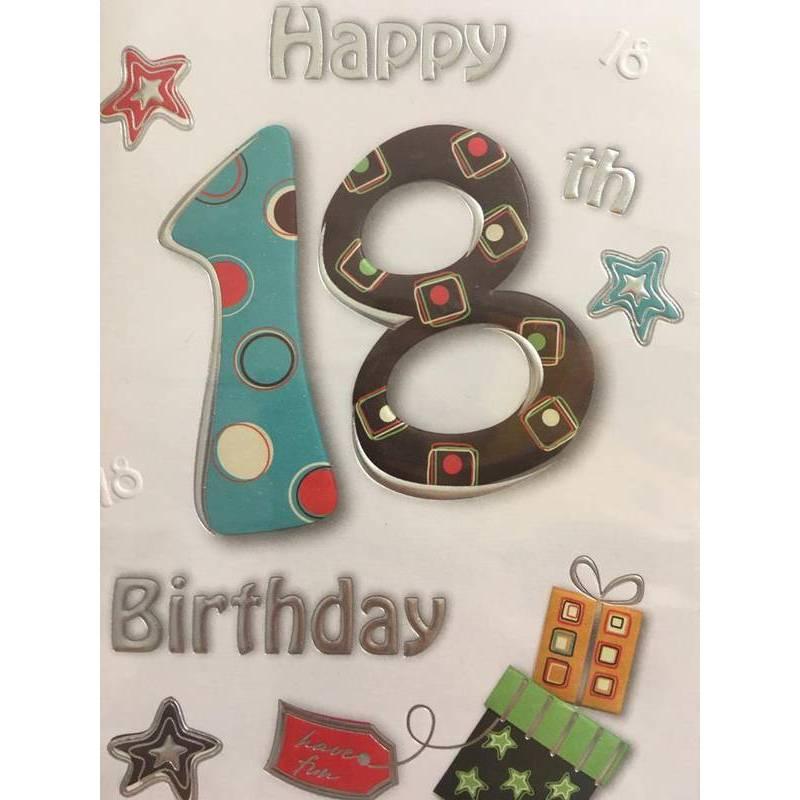 GREETING CARD - HAPPY 18TH BIRTHDAY