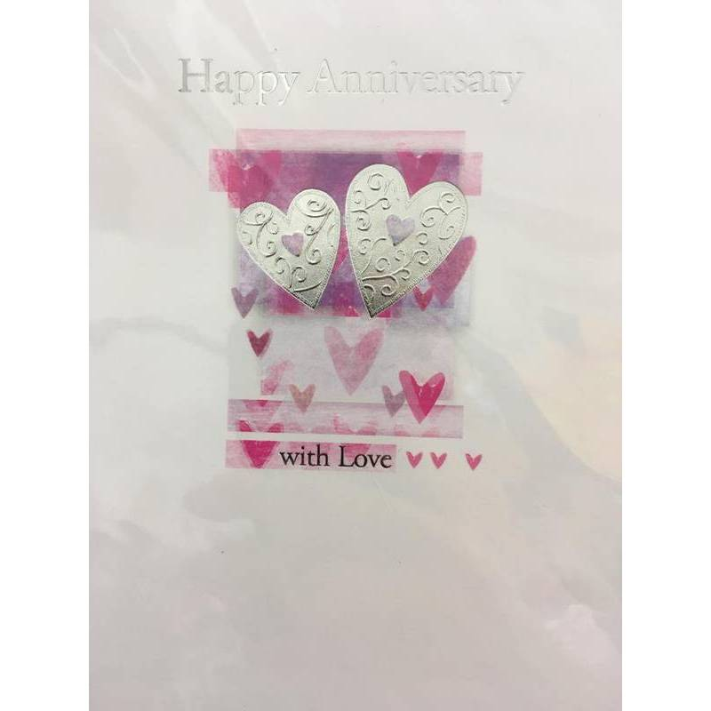 GREETING CARD - HAPPY ANNIVERSARY WITH LOVE