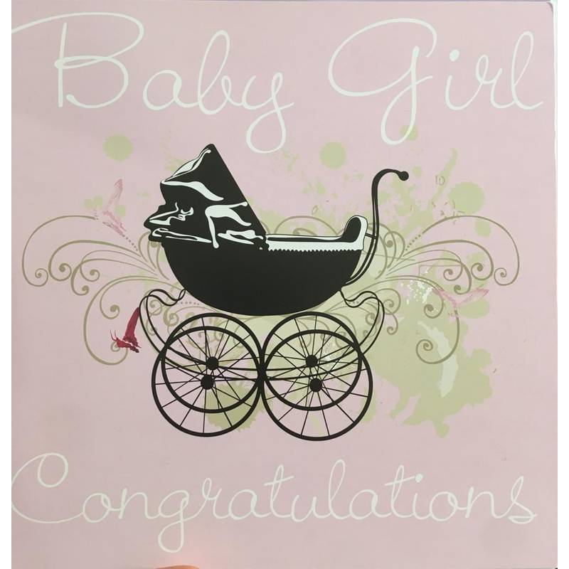 GREETING CARD - BABY GIRL CONGRATULATIONS