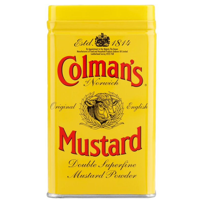 COLMAN'S DOUBLE SUPERFINE MUSTARD POWDER 113G best by 08/2019