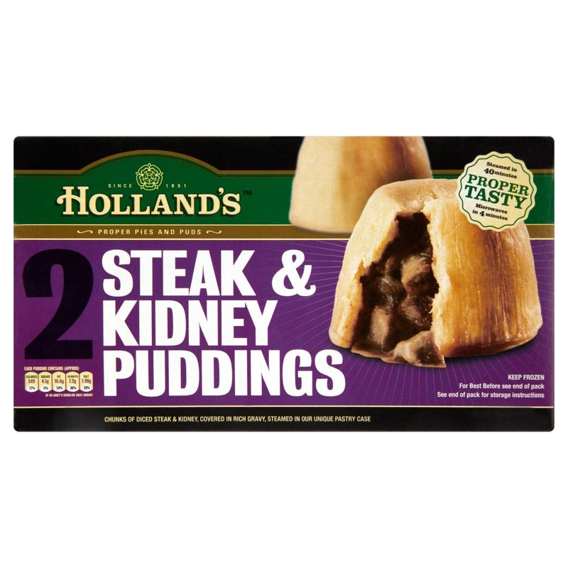 HOLLAND'S STEAK & KIDNEY PUDDINGS (2)