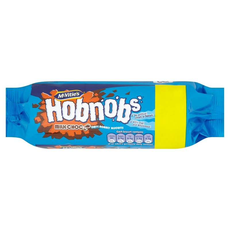 MCVITIE'S HOBNOBS WITH MILK CHOCOLATE 262g