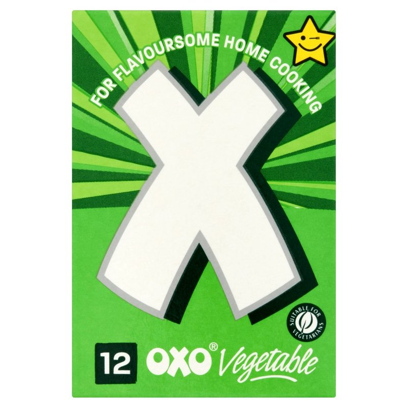 OXO STOCK CUBES VEGETABLE (12)
