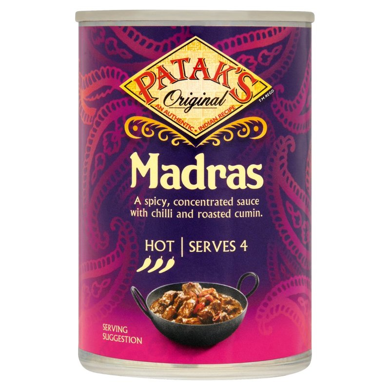 PATAK'S ORIGINAL MADRAS CURRY SALSA 283G
