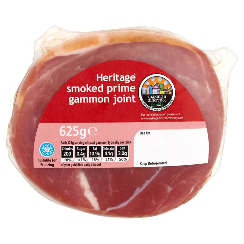 HERITAGE SMOKED GAMMON JOINT 625G