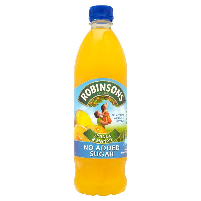 ROBINSONS ORANGE & MANGO FRUIT SQUASH NO ADDED SUGAR 1L
