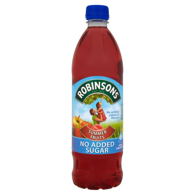 ROBINSONS SUMMER FRUITS SQUASH NO ADDED SUGAR 1L
