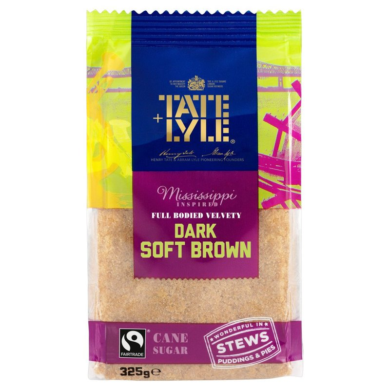 TATE + LYLE FAIRTRADE SOFT DARK BROWN SUGAR 325G