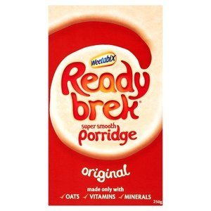 WEETABIX READY BREK PORRIDGE 250G best by 31/10/2018