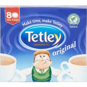 TETLEY TEA BAGS 80s best by 09/2017