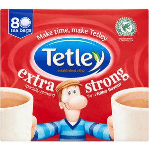 TETLEY TEA BAGS STRONG 80S