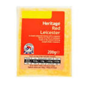 HERITAGE RED LEICESTER CHEESE 200G best by 31/07/2018