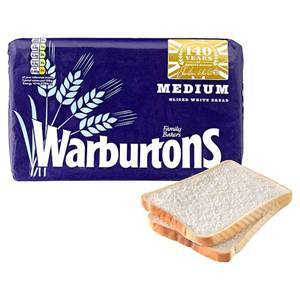 WARBURTONS WHITE THICK SANDWICH BREAD 800G