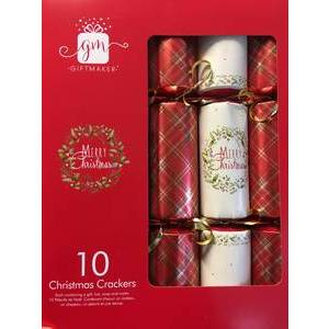 PLAID CHRISTMAS CRACKERS (10)