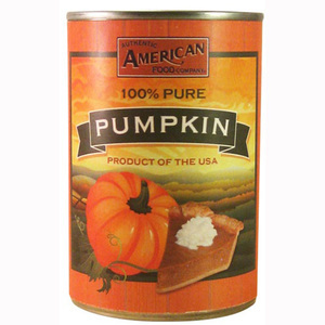 AUTHENTIC AMERICAN FOOD CO CANNED PUMPKIN 425G