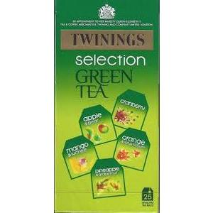 TWININGS GREEN TEA SELECTION PACK, 25s