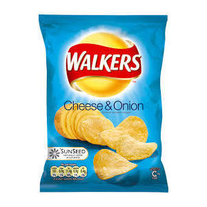 WALKERS CRISPS CHEESE AND ONION 50g