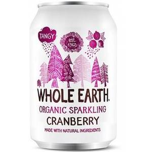 WHOLE EARTH ORGANIC SPARKLING CRANBERRY 330ML