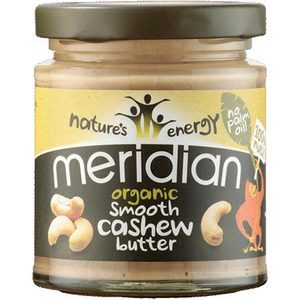 MERIDIAN ORGANIC CASHEW BUTTER 170G best by 01/2018