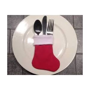 Christmas Stocking Cutlery Holder (6)