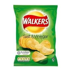 WALKER'S SALT & VINEGAR CHIPS 75G