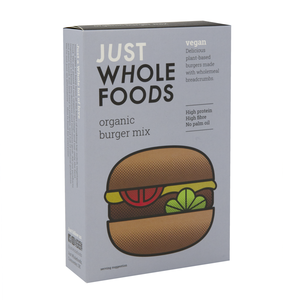 JUST WHOLEFOODS VEGETARIAN BURGER MIX 125G