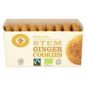 DOVES FARM STEM GINGER COOKIES GLUTEN FREE 150g