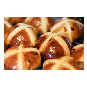 THE DELI HOT CROSS BUNS 4PK