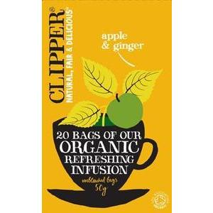 CLIPPER APPLE & GINGER TEA 20BAGS