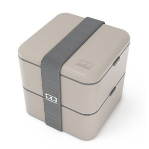 MONBENTO DOUBLE SQUARE GREY