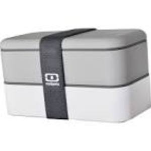 MONBENTO DOUBLE RECTANGULAR GREY