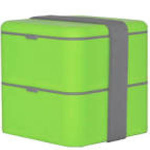 MONBENTO DOUBLE SQUARE GREEN