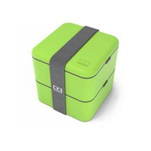 MONBENTO SQUARE GREEN BOX