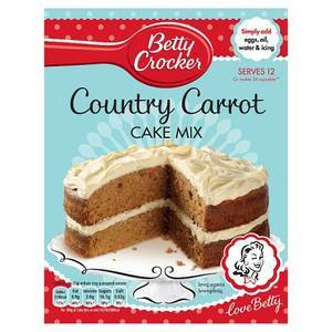 BETTY CROCKER CARROT CAKE MIX 500G best by 21/07/2018