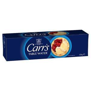 CARR'S TABLE WATER CRACKERS 125g