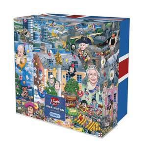 GIBSONS I LOVE GREAT BRITAIN 500 PIECE PUZZLE