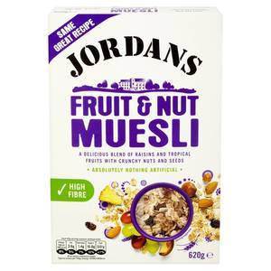 JORDANS FRUIT & NUT MUESLI 620G best by 14/02/2018
