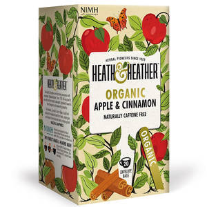 HEATH & HEATHER ORGANIC APPLE AND CINNAMON TEA 20S